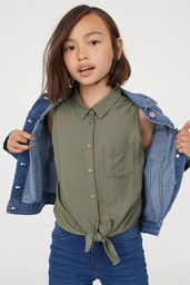 Blusas April Tie Blouse Verde 1 U