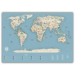 Mapa Del Mundo Viajero Travelshot 1 U