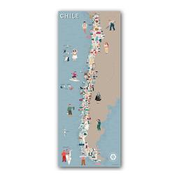 Mapa Viajero de Chile Travelshot 1 U