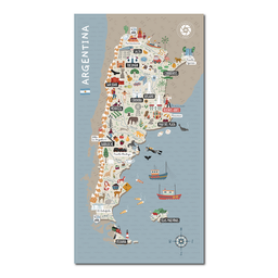 Mapa Viajero de Argentina Travelshot 1 U