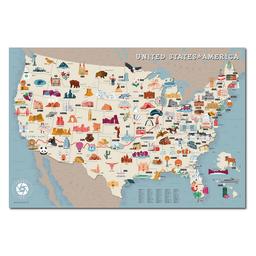 Mapa Viajero de Estados Unidos Travelshot 1 U