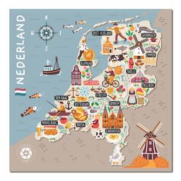 Mapa Viajero de Países Bajos Travelshot 1 U