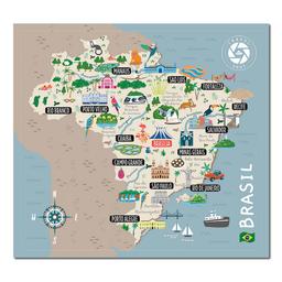 Mapa Viajero de Brasil Travelshot 1 U