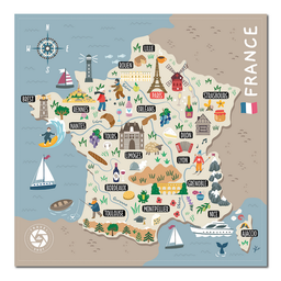 Mapa Viajero de Francia Travelshot 1 U