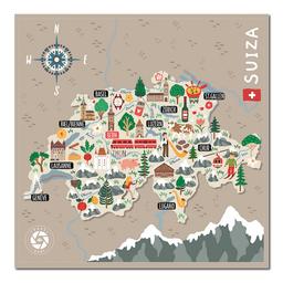 Mapa Viajero de Suiza Travelshot 1 U