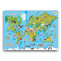 Mapa Mundi Infantil 1 U