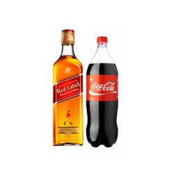 Whisky Johnnie Walker Rojo 750cc + Coca Cola 1.5 L