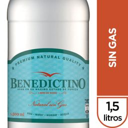 Agua Benedictino Sin Gas Botella 1.5Lt