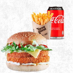 Combo Chicken Burger Doble