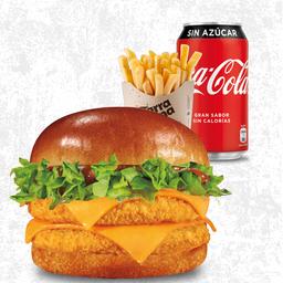 Combo Chicken Burger Doble