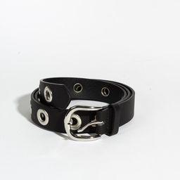 Cinturón Negro Con Aplicaciones de Metal Nickel Black 1 U