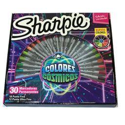 Set 30 Colores Fino/Extra Fino Cosmico Sharpie