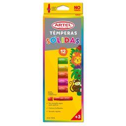 Tempera Solida 12 Colores Artel