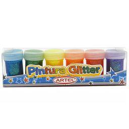 Tempera Glitter 6 Colores Artel