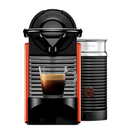 Cafetera Pixie Roja + Espumador de Leche