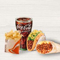 Combo Taco Cheesy Double Decker + Burrito Cheesy Double +...
