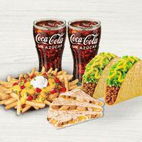 Combo para 2: 1 Quesadilla + 2 Tacos Crunchy + ...