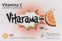 Vitarama C Comp Masticable 100 Un Acido Ascorbico