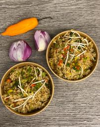 2 Bowls chaufa vegetariano