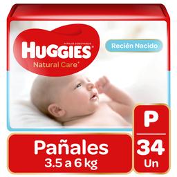 Huggies Pañal Natural Care Pequeño 34Un