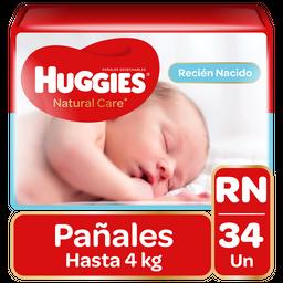 Huggies Pañal Natural Care Recien Nacido 34Un