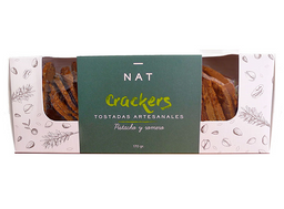 Tostada Nat Crackers Pistacho Romero 160 g
