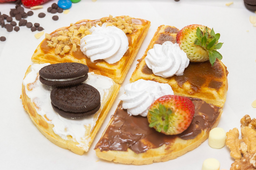 Mini Degustación de waffles + bebestible a elección