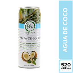 Be Organics Agua de Coco 520 ml