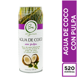 Be Organics Agua de Coco con Pulpa 520 ml