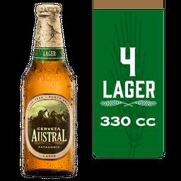 Cerveza Austral Lager Four Pack 330cc