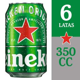 Six Pack Cerveza Heineken Lata 350cc