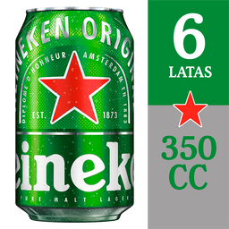 Cerveza Heineken Lata Six Pack 350cc