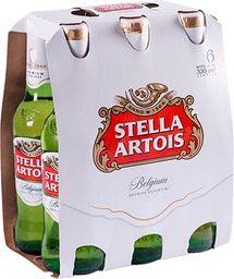 Six Pack Cerveza Stella Botella 330cc