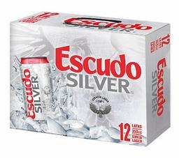 12 Pack Cerveza Escudo Silver 350cc