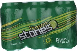 Six Pack Cerveza Lata Lemon Stone 350cc