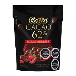 Chocolate Costa Cacao 62% Cranberries 130g