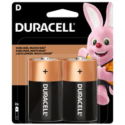 Pilas Duracell Alcalinas D 2 Unidades