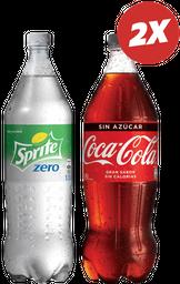 Promo: 2x Bebida Coca-Cola Variedades 1500cc