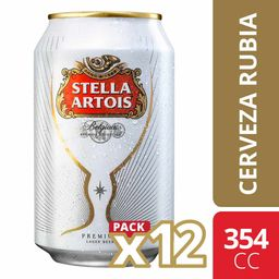 Cerveza Stella Artois Pack 12 Un