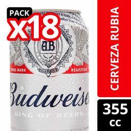 Pack Cerveza Lager Budweiser