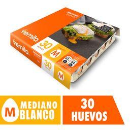 Huevo Yemita Mediano Blanco 30 u