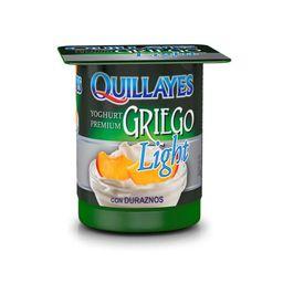 4 x Yogurt Quillayes griego Light Durazno 110 g