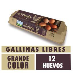Huevo La Granja Gallina Libre Grande 12 u