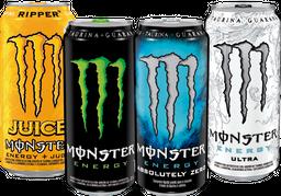 4x Bebida Energética Monster lata 473cc Variedades