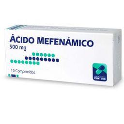 Acido Mefenamico 500Mg X10 COMP