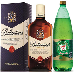 Whisky Ballantines 40° 750cc + Ginger Ale 1.5L variedades