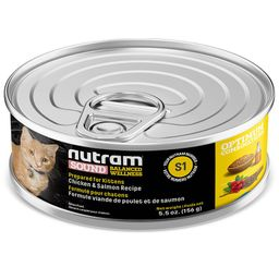 S1 Nutram Sound Kitten Cat Lata 156Gr