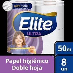 Elite Papel Higienico Doble Hoja 8 Un