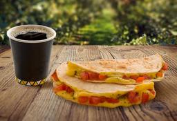 Quesadilla Napolitana y Café