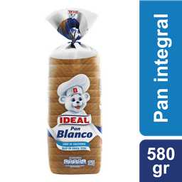 Pan Blanco Ideal 580g